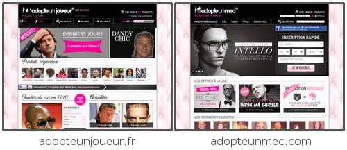 Différence entre adopteunjoueur et adopteunmec